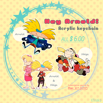 Hey Arnold! Acrylic keychain by knknknk