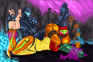 Samus Aran's first DeFEET! by QuintonQuill