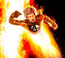 Hotter than a Star: The Human Torch by HZ-Designs