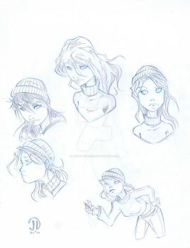 Kate Beaux sketches by JoeyVazquez