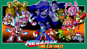 Mega Man Unleashed - Mock-Up Box-Art by AlmKornKid