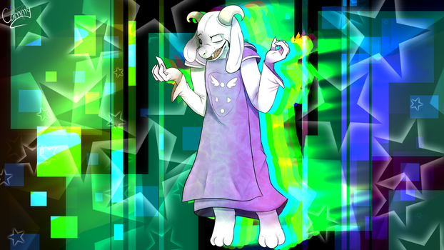 Asriel by nuclear-smash