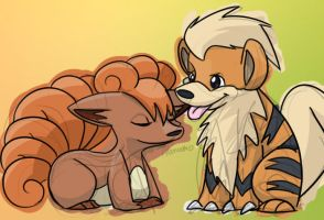 Vulpix and Growlithe