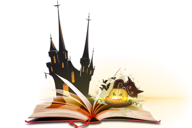 Magic Book Halloween PNG by LG-Design