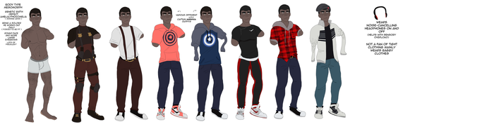 Parker Outfit Reference by SpiderRen