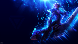 PROJECT: Ashe Wallpaper - 1920x1080 DISRUPTION by AliceeMad