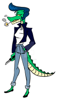 Adoptable: Alley Gator by coolghoul98