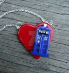TARDIS Heart Necklace