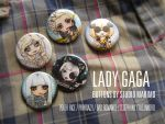 Lady Gaga buttons by studiomarimo