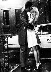 Klaus and Caroline kissing in the rain by full-of-light