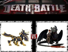 Request #73 Artha and Beau vs Hiccup and Toothless by LukeAlanBundesen