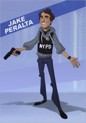 Jake Peralta by JustaBlink