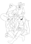 Personas Redesign - Lineart (WIP + Speedpaint) by Grimmijaggers