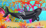 Snowbristle Orca Art by Snowbristle