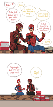 Spidey and Flash by pencilHead7
