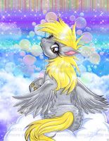 Colorful Bubbles Derpy Hooves Art Glossy Print by alaer