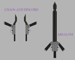 RWBY Weapon: Absalom / Chaos and Discord by CheshireJ69