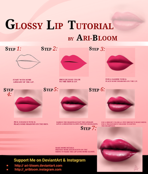 Glossy Lip Tutorial by ARI-BLOOM