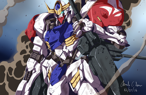 Gundam Barbatos Lupus by innovator123