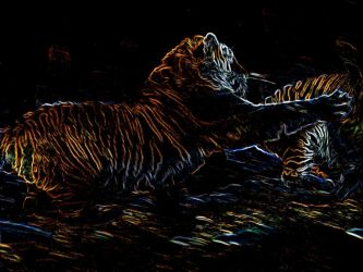 Tiger Chase by cdcase