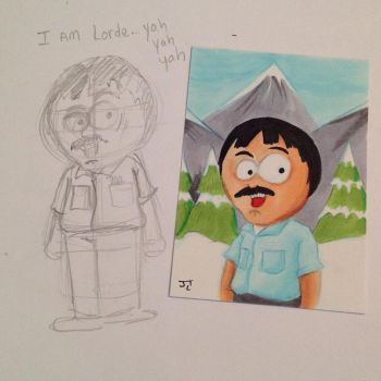 South Park Randy Marsh sketch card by johnnyism