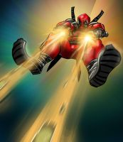 Some Deadpool Action by G-manbg