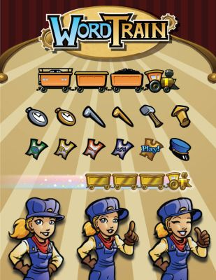 Icons and 2D Art for Word Train by ValliantCreations