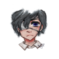 i drew ciel, but his hair is not that fluffy by Emclest