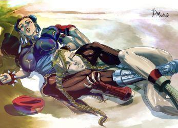 Chunli VS Cammy by BMadrid