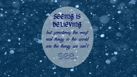Seeing is Believing Wallpaper by VampireLouislove