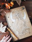 Mermaid: practice over kraft paper by Medusa-Dollmaker