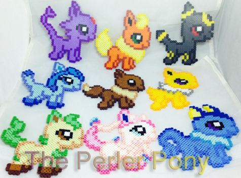 Pokemon Eeveelution Perler Bead Set by Perler-Pony