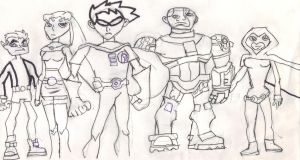 Teen Titans Asemble by Ben-the-looney