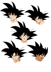 Goku expressions by nobody661