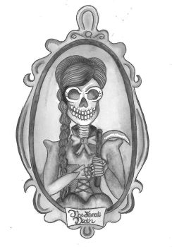 The Female Death (Illustration for bettyjules) by AmyLouiseZombie
