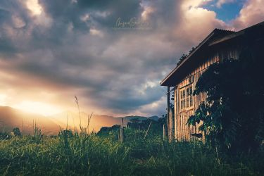 Cabin Sunset by Miguel-Santos