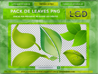 PACK DE LEAVES PNG by LupishaGreyDesigns