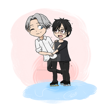 Yuuri and Viktor by Tails-Crossing