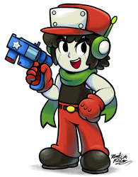[MM] 'Mario+Luigi' RPG Style: Quote (Cave Story) by MAST3R-RAINB0W