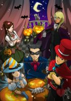 Ace Attorney Apollo Justice_BELATED Halloween by NohMasked
