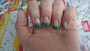 Green ombre by Anonymous---Lucifer