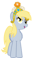 Derpy in her Big Crown Thingy by jaybugjimmies