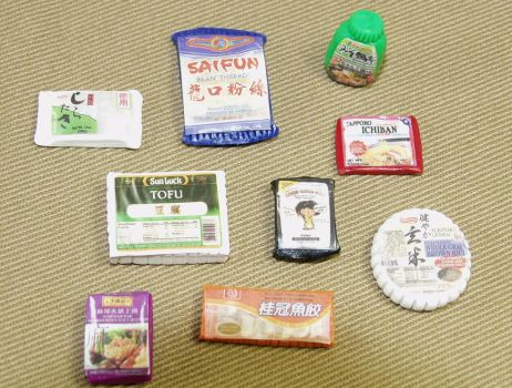 Playscale 1:6 Scale Asian Groceries Set by BeautifulEarthStudio