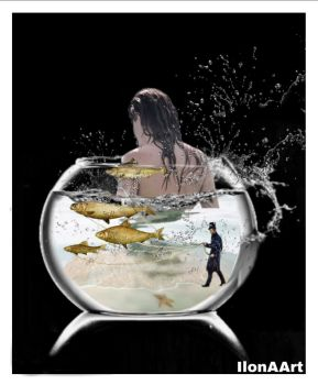 VISBOWL IN USE (HONEY DO YOU THE FISHES ??? ) by IME54-ART
