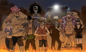 The Straw Hats by JoshuaBrewer
