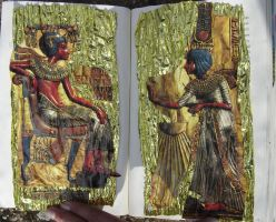 1st Altered Book 14, Favorites by angelstar22
