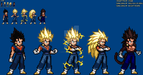[JUSLite] Vegetto's forms (Update) by SuperShadiw1010