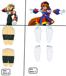 Foot Size Chart: Iris and Alia by 3DFootFan