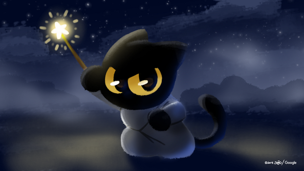 Momo the Cat Wizard by joaoppereiraus