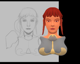 Chic Scifi Painttest (WIP) by ruberboy